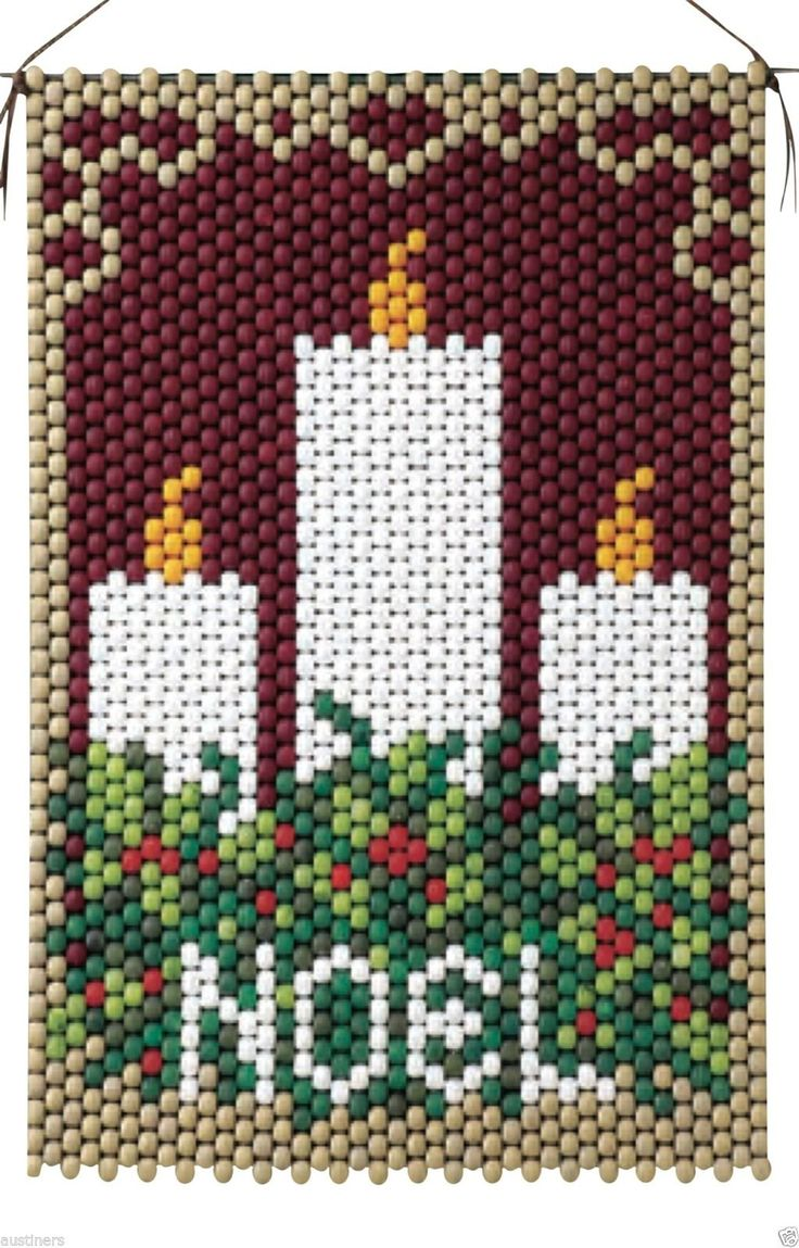 Noel Candles Beaded Banner Kit The Beadery Craft Products 5907 | eBay