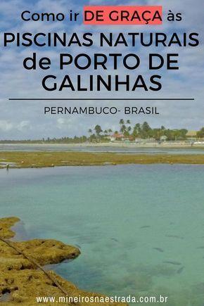 Como obter gratuitamente as piscinas naturais de Porto de Galinhas   – Brasil  