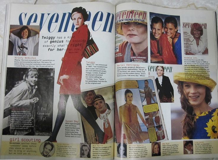 taken from Seventeen magazine's October 1994 issue, their 50th anniversary issue