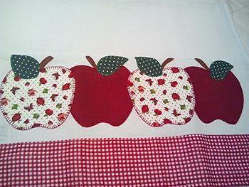 Patch apliqué de maçãs