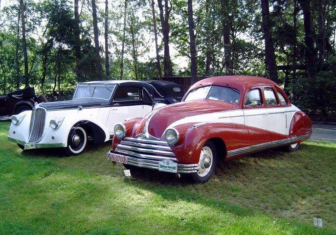 Tatra T52 Sodomka 1934,  Tatra T75 Linie Tousek 1938.