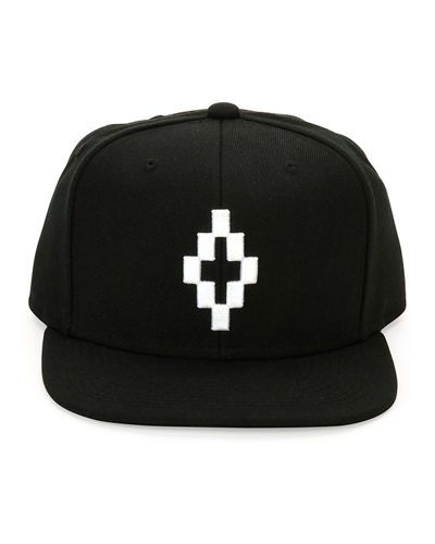 Marcelo+Burlon+Starter+Cruz+Contrast+Logo+Flat+Bill+Cap+Black+White+ +Hat,+Headwear+and+Accessory