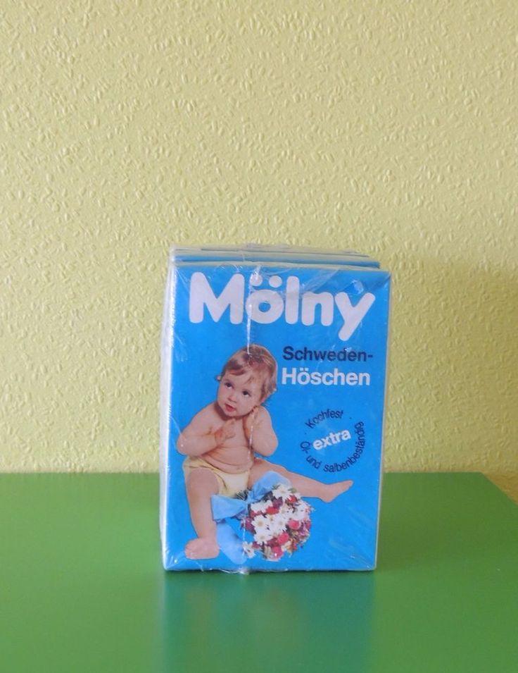 Vintage Mölny Schwedenhöschen Windelhosen 70er Jahre Größe 4