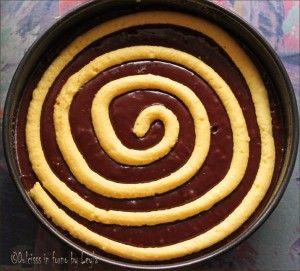 Torta girella al cioccolato e crema pasticcera Dulcisss in forno by Leyla