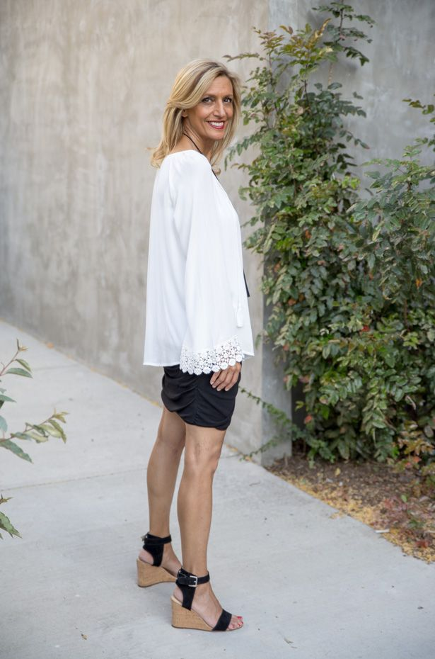 Check out my new blog story featuring our White Peasant Blouse with Lace cuffs available in our shop www.jacketsociety.com