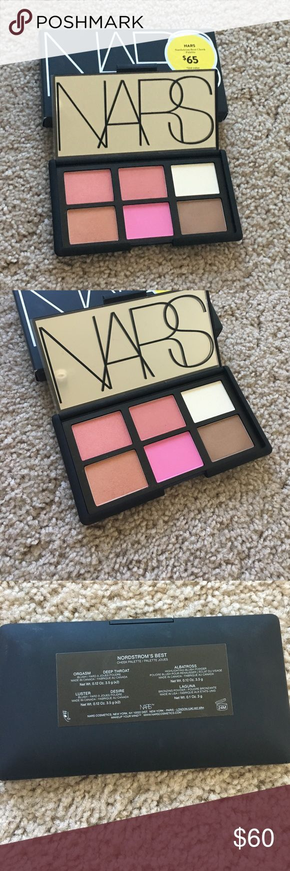 Nars limited edition blush palette Like new Nars blush palette including some bestselling shades-Laguna, Albatross and Orgasm. This palette was a Nordstrom exclusive during the anniversary sale last year and is no longer available for purchase at stores. NARS Makeup Blush