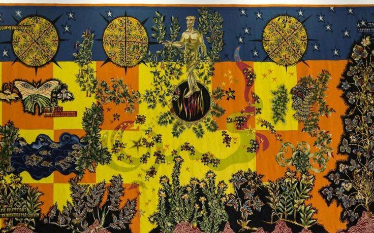 « Le Jardin du poète » exposé à La tapisserie (3,60 m X 7,15 m) de Jean Lurçat a quitté Juvisy-sur-Orge pour être présentée à partir de mai à l'exposition consacrée à son auteur à la Galerie des Gobelins, à Paris. (Mairie de Juvisy)
