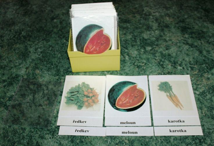 Třísložkové karty - ovoce, zelenina