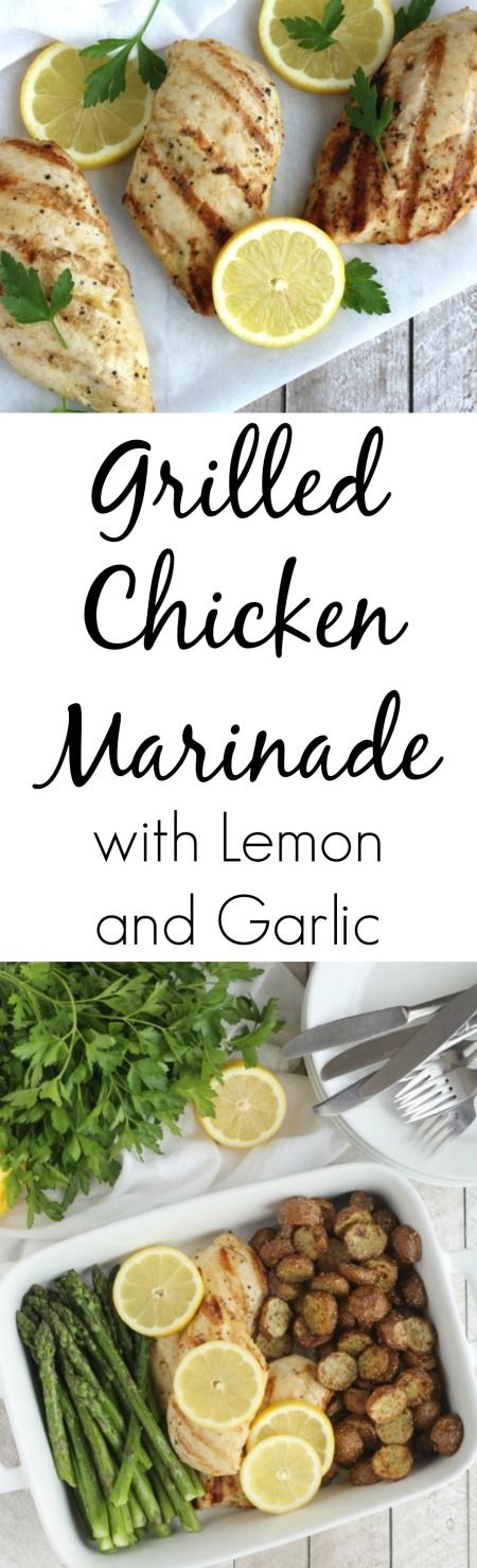 The best grilled chicken - a true family fave! This Grilled Chicken Marinade with Lemon and Garlic is so easy and wonderfully flavorful! (With ingredients you probably have on hand!) ~ from Two Healthy Kitchens at www.TwoHealthyKitchens.com