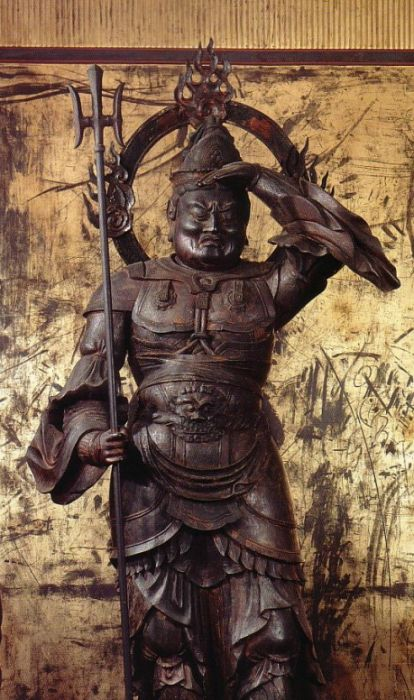 Japanese National Treasure, Statue of Bishamonten 毘沙門天像(鞍馬寺) Statues and Icons : More At FOSTERGINGER @ Pinterest