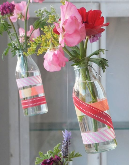 Washi Tape Flower Vases / Floreros