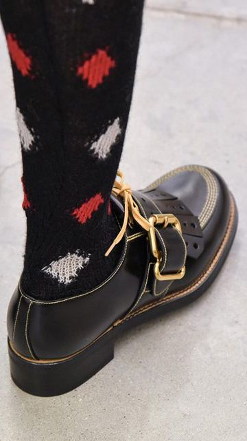 Prada - Shoe - men - sock - pattern - diamond - buckle