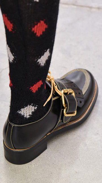 Prada - Shoe - men - sock - pattern - diamond - buckle
