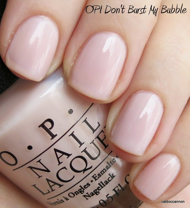 OPI Don't Burst My Bubble - This was my wedding Gel Manicure and still a favorite colour!  Update - Mod About You is the same colour, don't burst my bubble was discontinued!