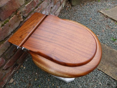 mahogany 1930s high level toilet seat lid restored u2013 antiques u0026 restoration