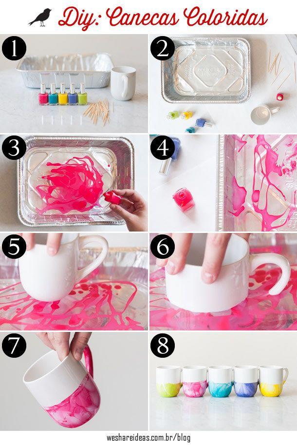 Esta caneca aquarelada é ótima para as mães que sempre têm um momento chá. | 15 ideias de presentes de emergência para o Dia das Mães