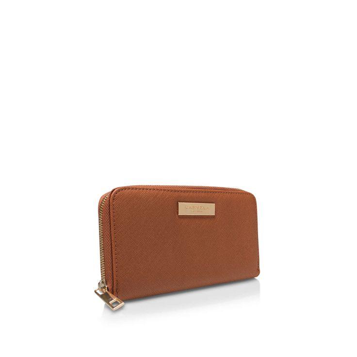 ALIS2 ZIP WALLET Carvela Kurt Geiger Alis2 Zip Wallet Tan Handbag by CARVELA KURT GEIGER