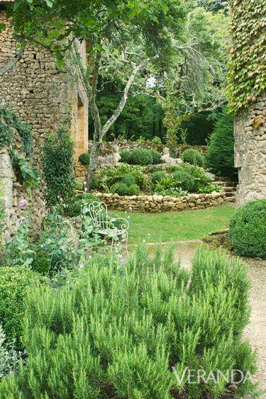 Restored Farmhouse In France - Old World Charm - Marston Luce Design - Veranda