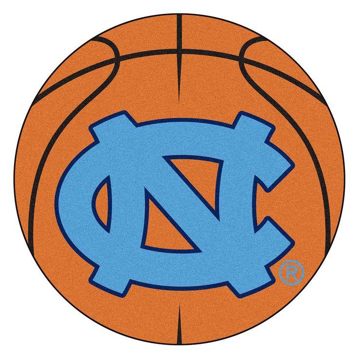 UNC - Chapel Hill NCAA Basketball Round Floor Mat (29) NC Logo