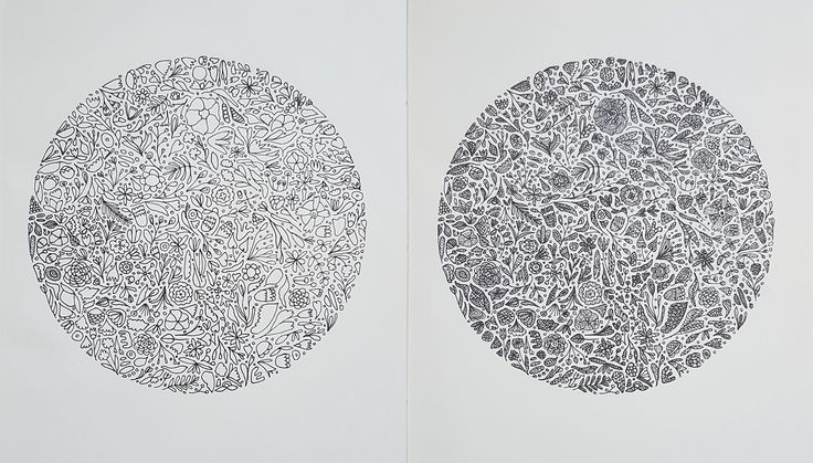 #flowers #sketch #circle #pattern