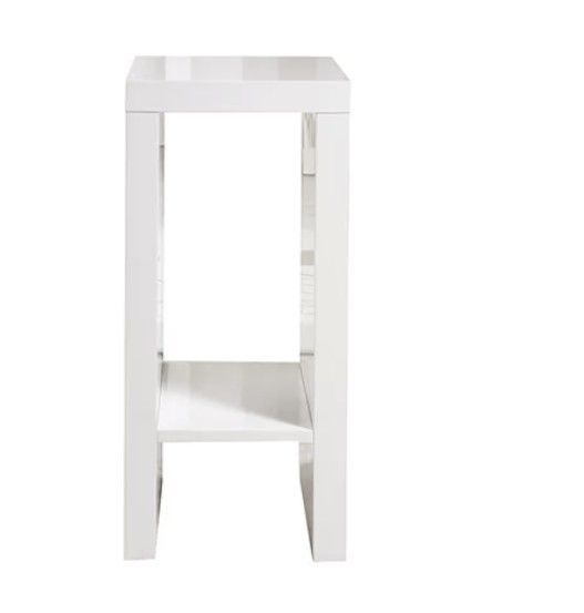 Small Side Table White High Gloss Coffee Tables Plant Stand Modern Furniture New