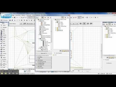 ArchiCAD: Buildings on Different Story Levels - YouTube