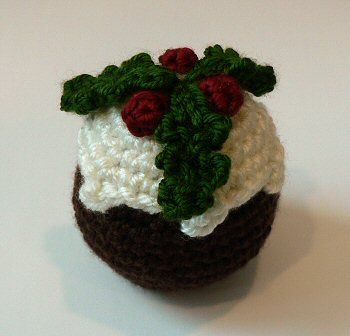 Free Crochet Christmas Ornament Patterns | Free Crochet Pattern - Christmas Pudding from the Christmas ornaments ...