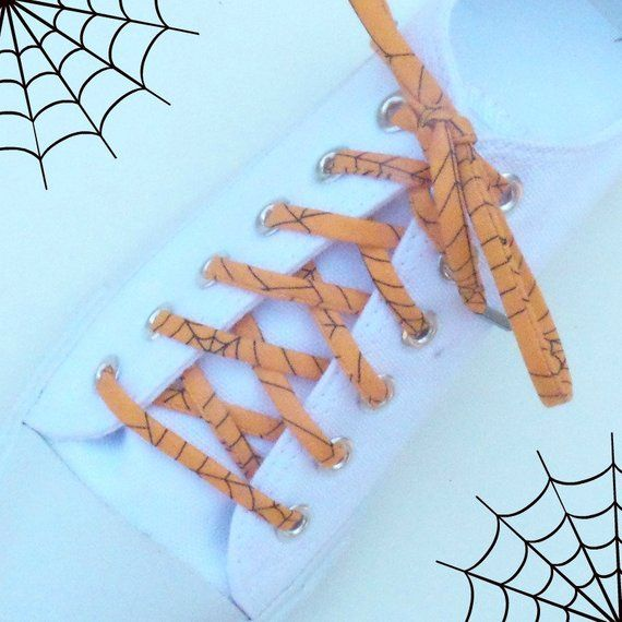 Halloween Spider Web Funky Shoelaces Cute Laces