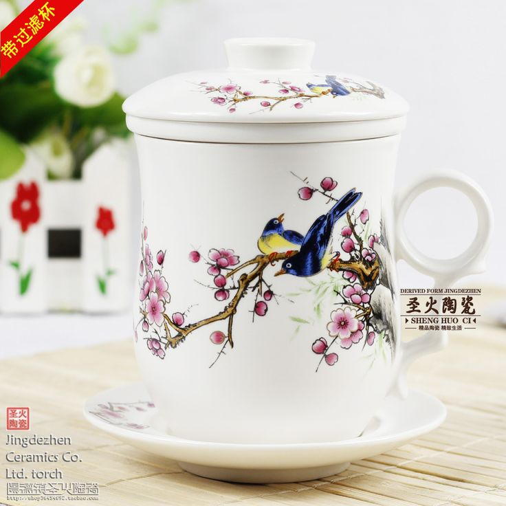 bone china cup with lids | Cup-ceramic-filter-water-cup-with-lid-porcelain-mug-with-cover-bone ...