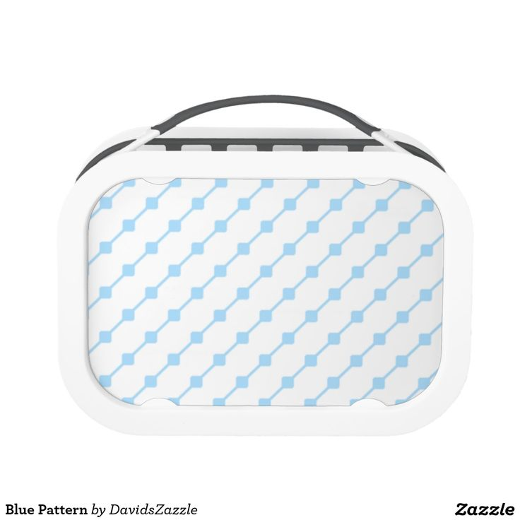 Blue Pattern Lunch Box Available on many more products! Type in the name of this design in the search bar on my Zazzle products page!   #abstract #art #pattern #design #color #accessory #accent #zazzle #buy #sale #kitchen #dining #home #decor #entertain #serving #guest #food #foodie #apartment #dorm #student #accent #living #modern #chic #contemporary #style #life #lifestyle #minimal #simple #plain #minimalism #square #line #white #blue