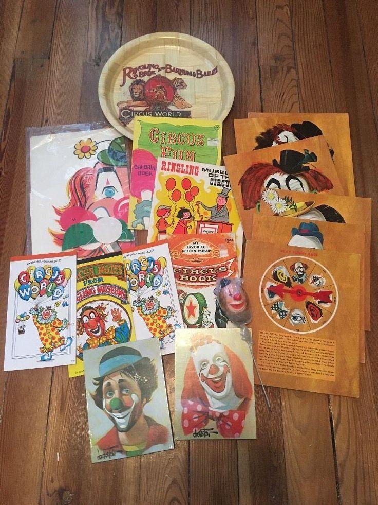 Vintage 1968 FUNNY FACE 5 Big Clown Faces Whitman Game 4837 Interchangeable Part  | eBay