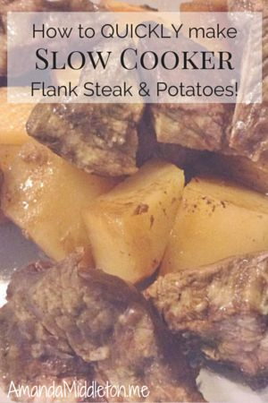 How to Quickly Make Slow Cooker Flank Steak & Potatoes! #GlutenFree #AllergyFree