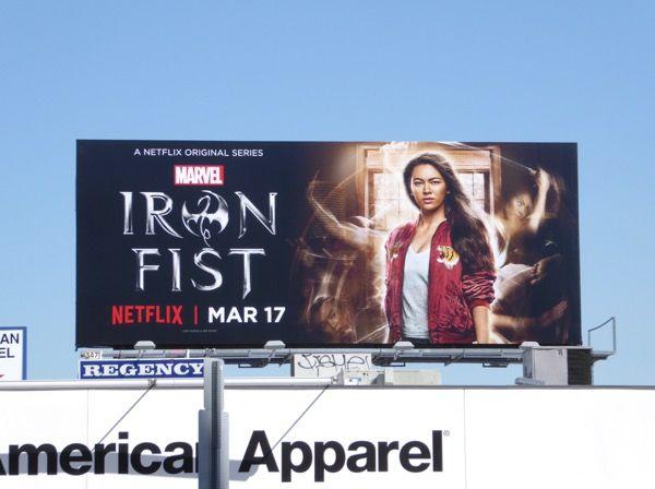 Colleen Wing Iron Fist series billboard Melrose Avenue