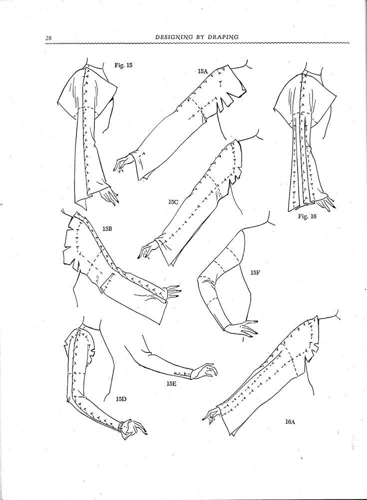 Designing by draping vintage 1940s sewing tailoring