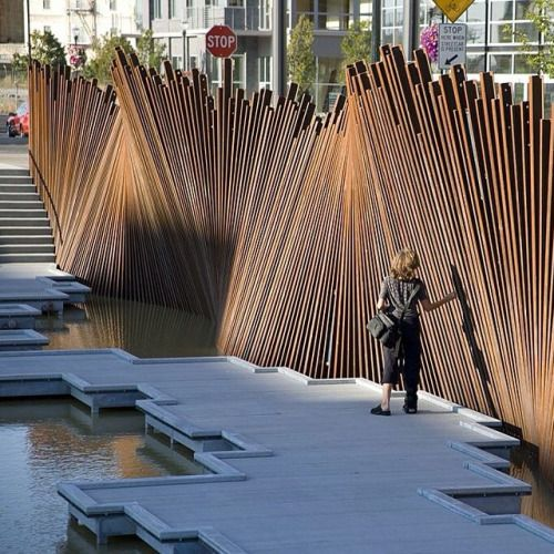 nexttoparchitects:  by @architecture_xxi #next_top_architects Creation at tanner spring park in Portland.  #archixxi