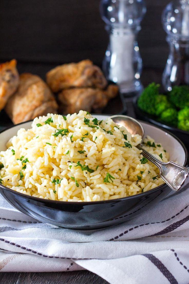 This recipe for Rice Pilaf from Erren's Kitchen is simple side dish that is a great alternative to plain white rice. Its mild chicken and garlic flavors make it a versatile and easy side for any supper.