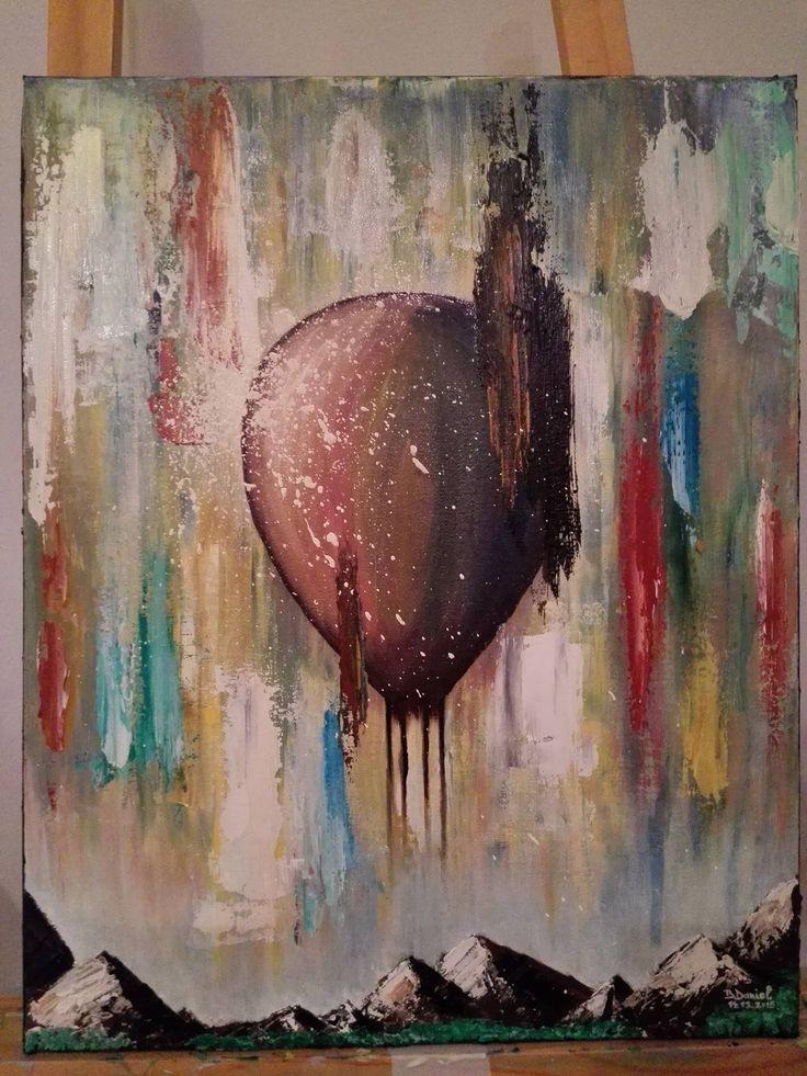 "My last Painting On 2015 ""Balonul""!!!  Ulei pe pânză;  40/70cm"