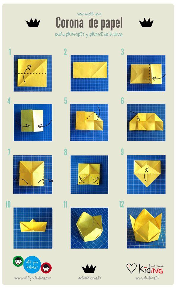 Te explicamos a realizar paso a paso una corona de papel  http://areyoukiding.com/corona-de-papel-para-princesas-y-principes-kiding/