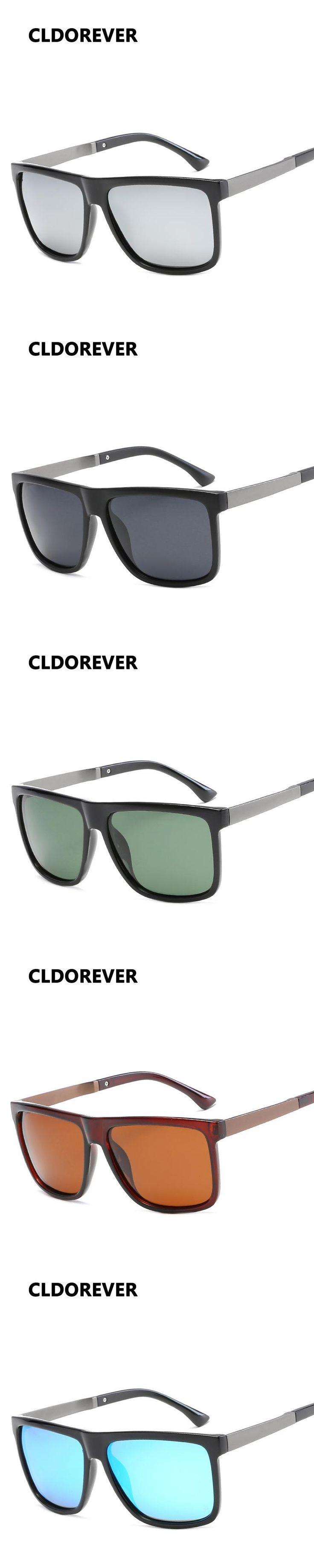2017 Polarized Sunglasses Men Vintage Square Sunglass Oversized Sports Sun Glasses For Mens Polaroid Goggles Oculos Polarizado