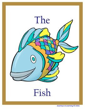 The Rainbow Fish, by Marcus Pfister is a short story about a beautiful fish who finds friendship and happiness when he learns to share.   After reading this story, have the students recap the setting, character, plot and themes.  The students will also have the opportunity to write sentences using some of the vocabulary from the story. Plus other fun activities that students will complete are included.
