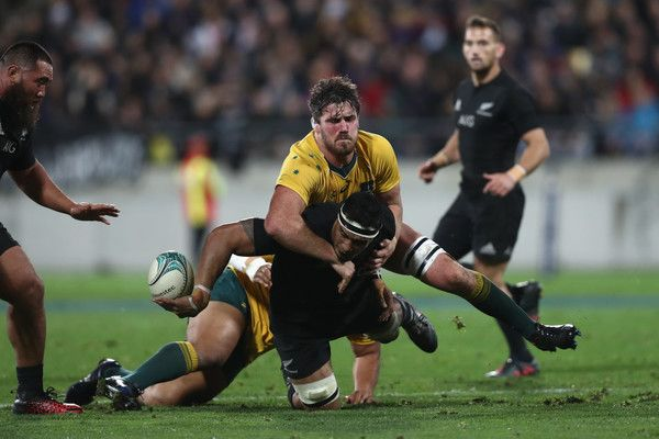 Jerome Kaino Photos Photos - Jerome Kaino of the All Blacks is tackled during the Bledisloe Cup Rugby Championship match between the New Zealand All Blacks and the Australia Wallabies at Westpac Stadium on August 27, 2016 in Wellington, New Zealand. - New Zealand v Australia