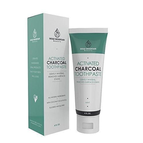 Activated Charcoal Teeth Whitening Toothpaste with Coconut. All Natural Herbal Toothpaste Eliminates Bad Breath and Gently Whitens Teeth. Safe on enamel for everyday use. Fluoride and SLS Free