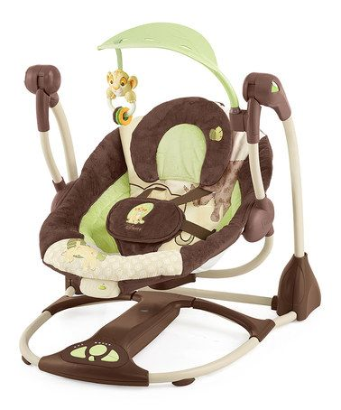 Drew's room when he was a baby! would be cute for his future kiddos! Disney's Lion King Portable Swing #zulilyfinds