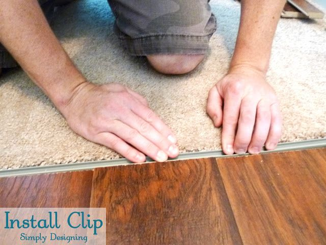 Install Clip For Transition Strip, Transition Strips For Laminate Flooring
