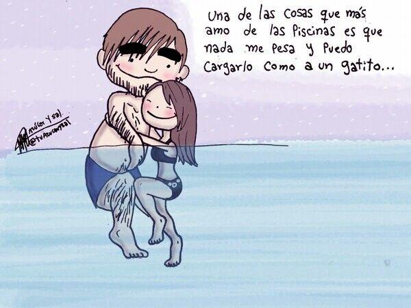 :) o en el mar, puedo abrazarlo y si me da miedo la ola