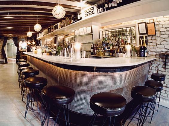 Love this vintage bar look at Bobo Restaurant NYC.