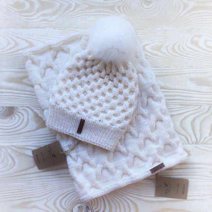 Нежно-белый тёпленький комплект из новой коллекции зима 2016-2017 !!! ✅Заказать можно в what's app/viber +7(985) 361-78-89/direct или на сайте savahandmade.ru ✳️✳️✳️Аксессуары в наличии можно посмотреть здесь↩️↩️↩️ ℹ️#Sava_handmade_наличие  #sava_handmade#зимняяшапка#дизайнерскаяодежда#дизайнеры#design#мода2016 #шапки#шапка#вязанаякосынка#инстамама#вязаныйшарф#шарфручнойработы…