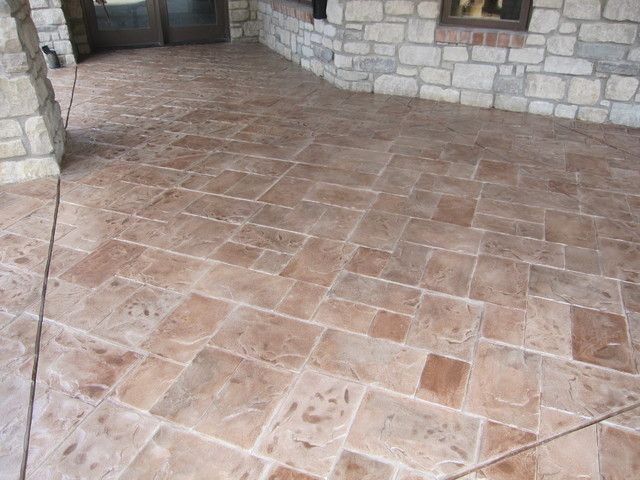 Decorative Stamped Concrete Patio Vs Pavers NH MA ME Reviews Which Is  Better Cheaper