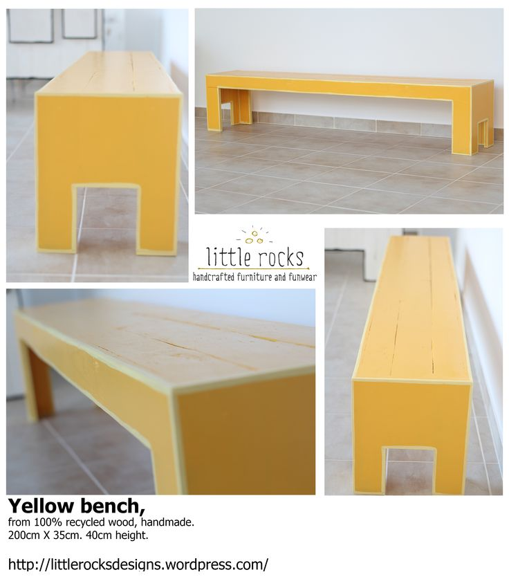 recycled wood bench!