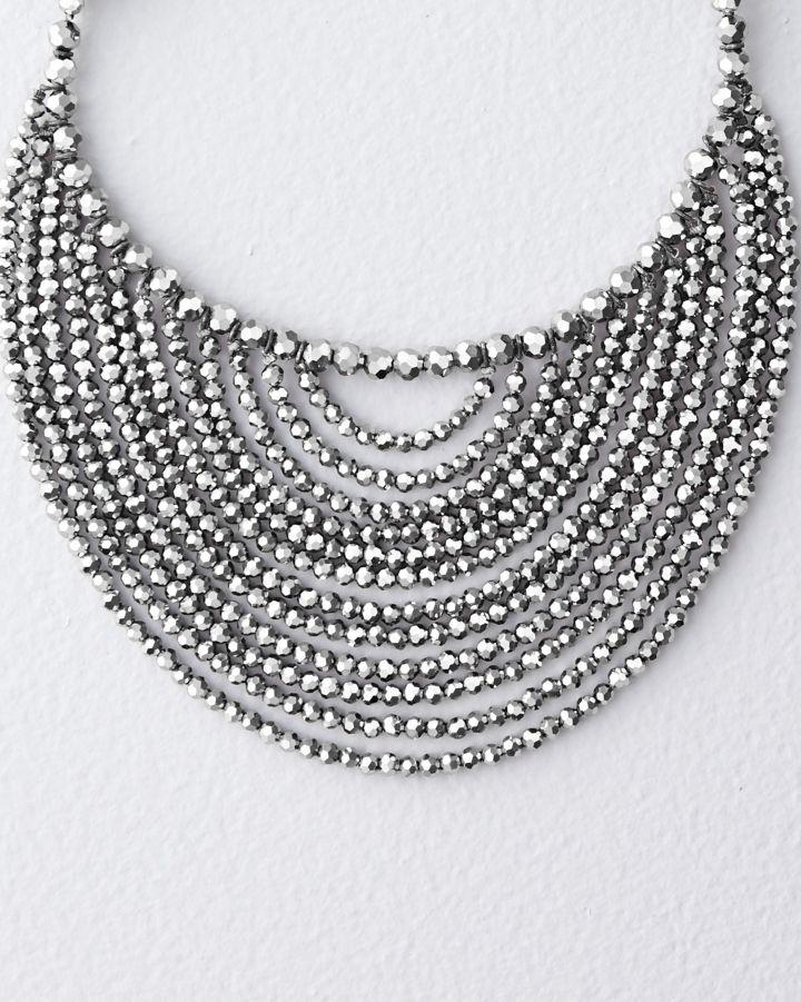 Collar swarovski pequeño plata